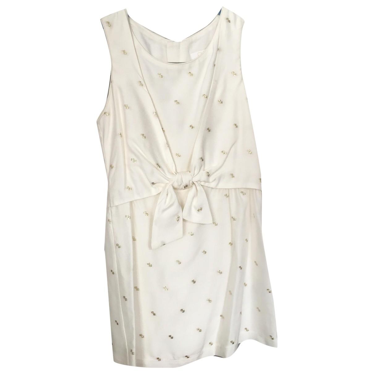Chloe \N Kleid in  Weiss Viskose