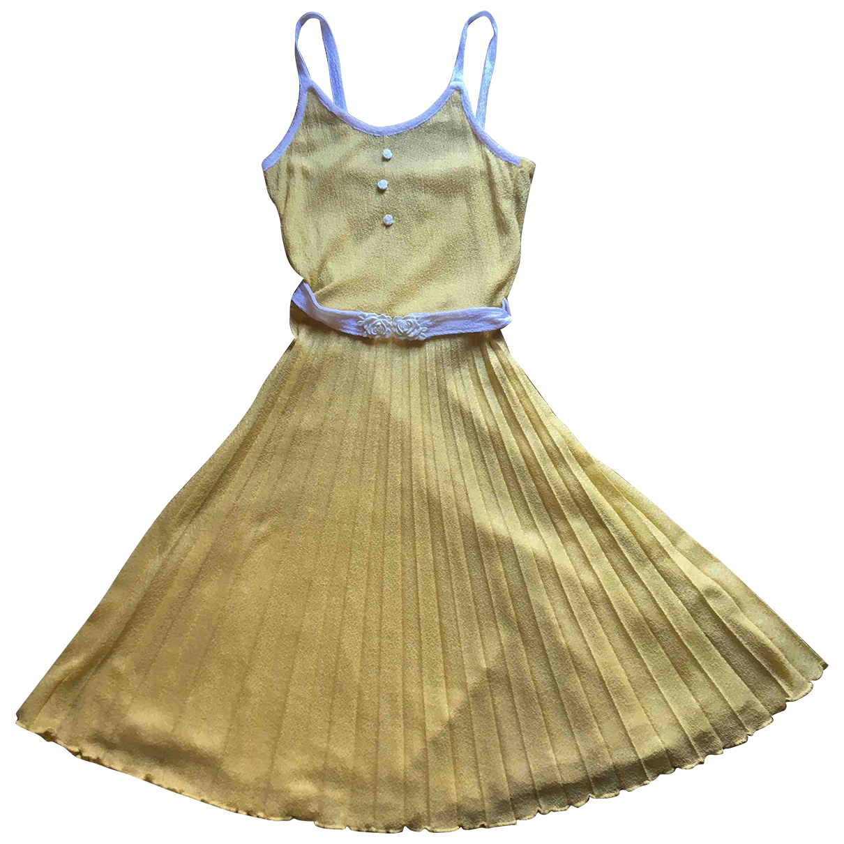 Non Signé / Unsigned \N Yellow dress for Women 36 FR