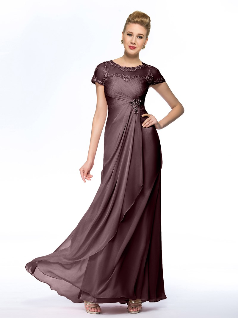Ericdress Short Sleeves Beading Lace Mother of the Bride Dress