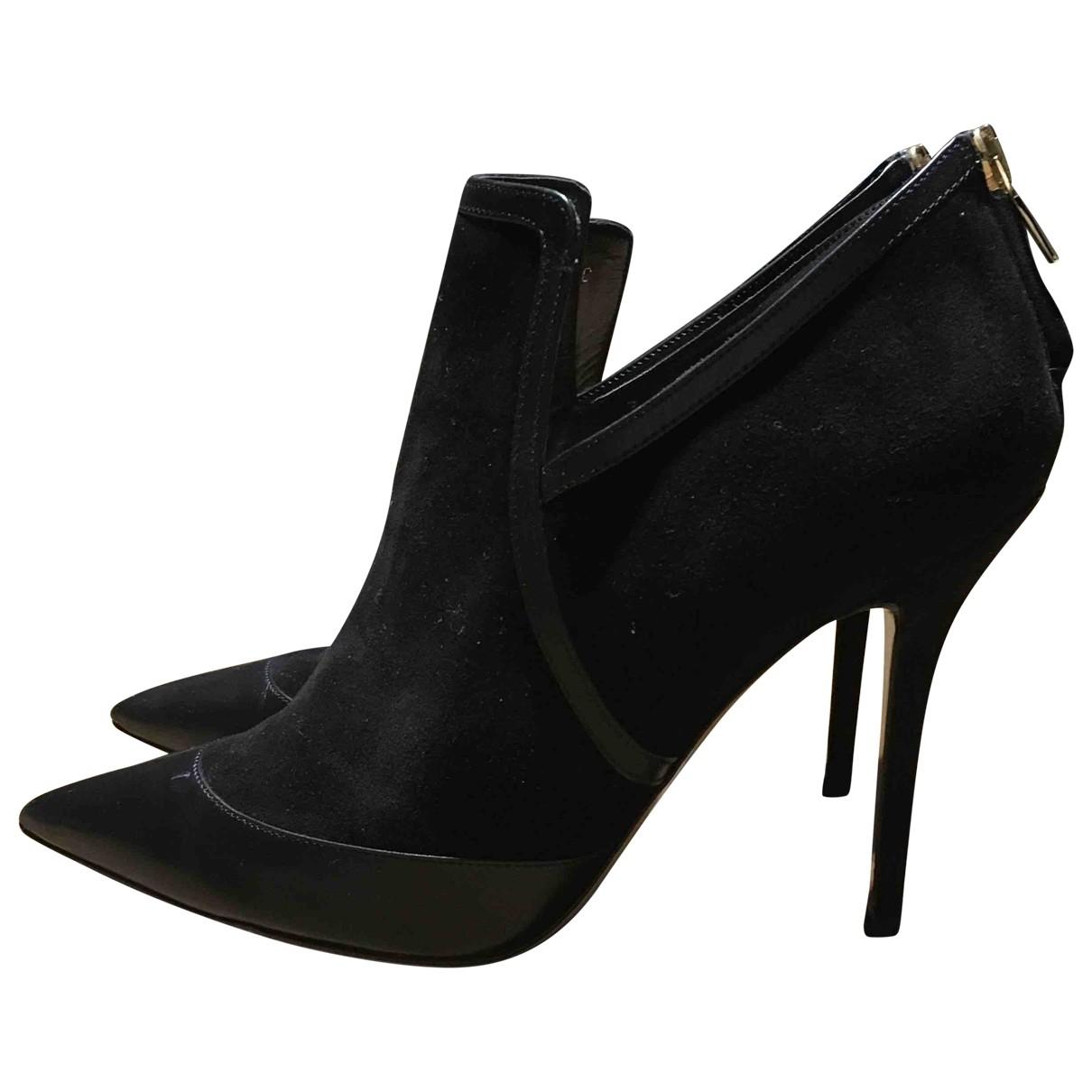 Salvatore Ferragamo \N Black Suede Heels for Women 40 EU