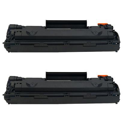 Compatible HP 78A CE278A cartouche de toner noire - boite economique - 2/paquet (2 unite)