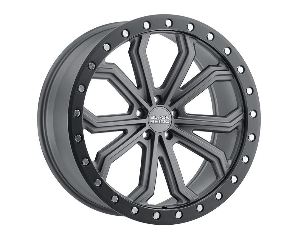 Black Rhino Trabuco Wheel 17x8  5x112 10mm Matte Gunmetal w/Black Lip Edge & Silver Bolts