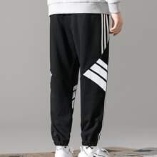 Guys Striped Drawstring Pants