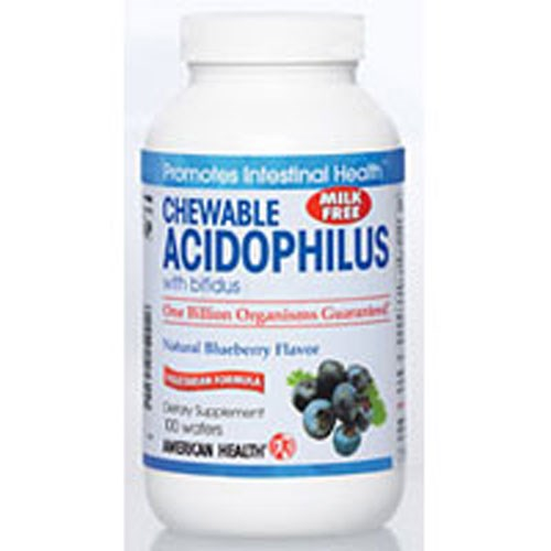 Acidophilus with Bifidum  Blueberry flavor, 100 Wafers by American Health
