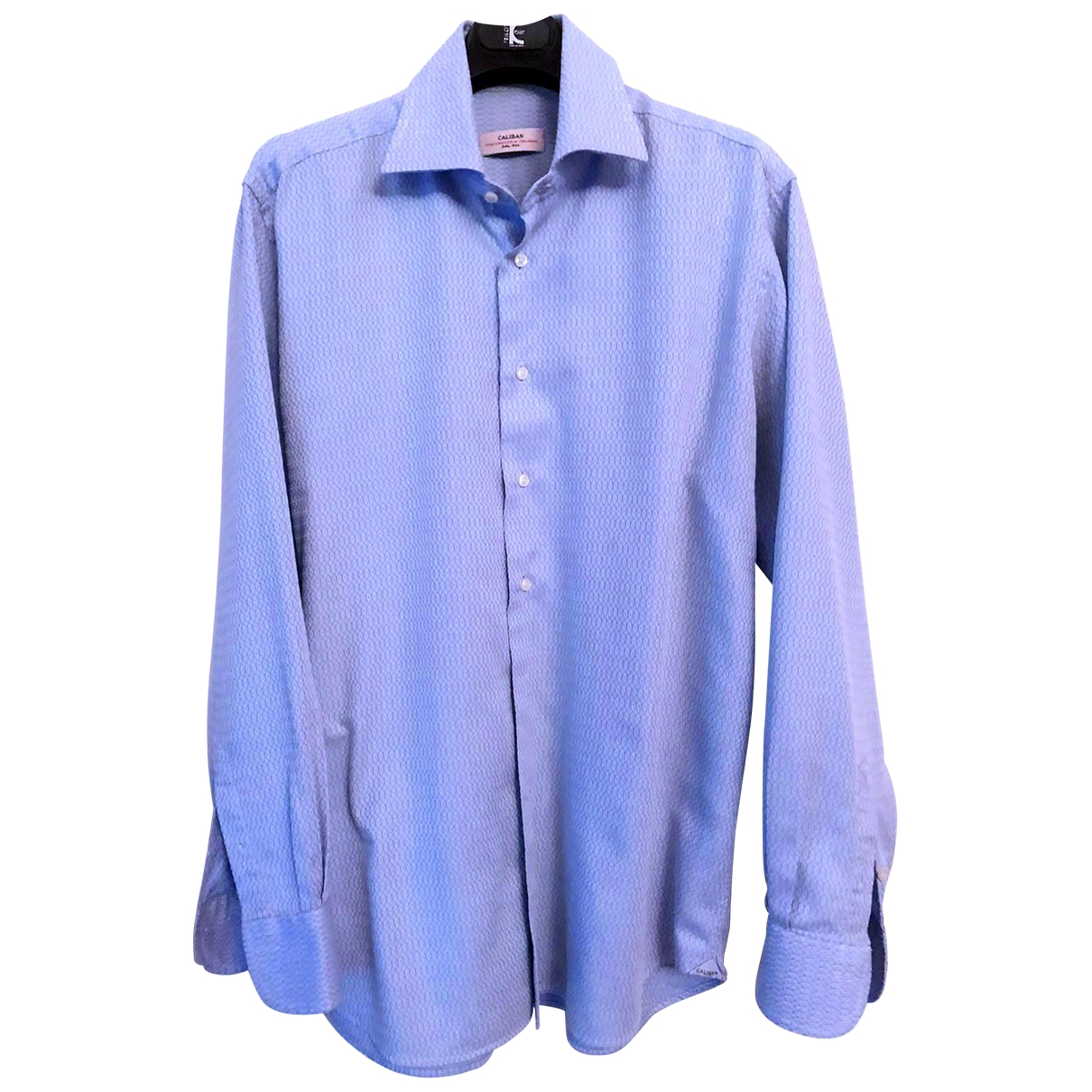 Caliban - Chemises   pour homme en coton - bleu