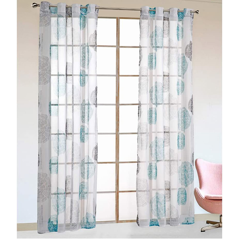 Modern Translucidus Custom Living Room Sheer Curtains Breathable Voile Drapes No Pilling No Fading No off-lining