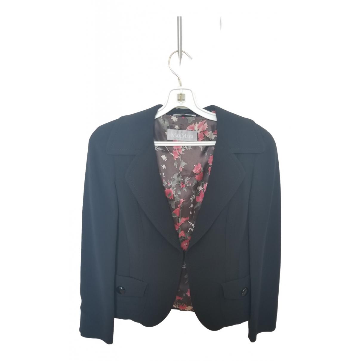 Max Mara \N Black Wool jacket for Women 38 IT