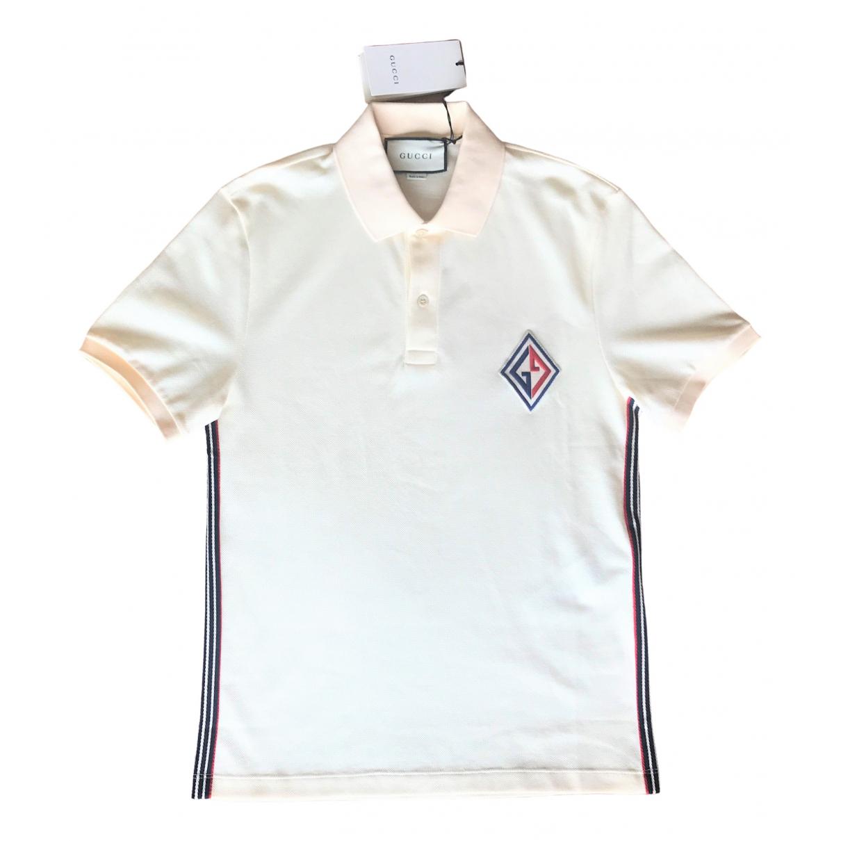 Gucci \N Ecru Cotton T-shirts for Men S International