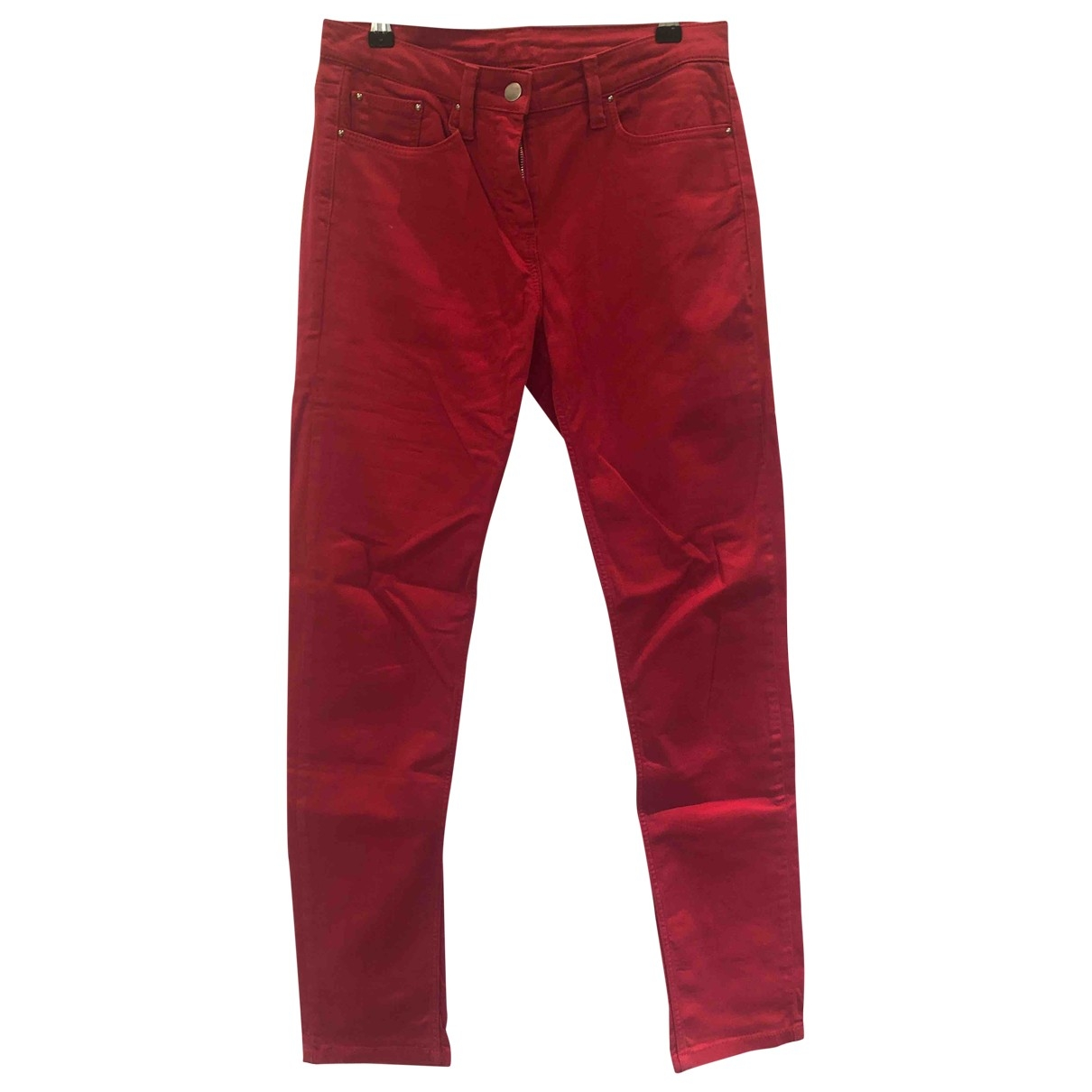 Pablo \N Pink Cotton Trousers for Women 40 FR