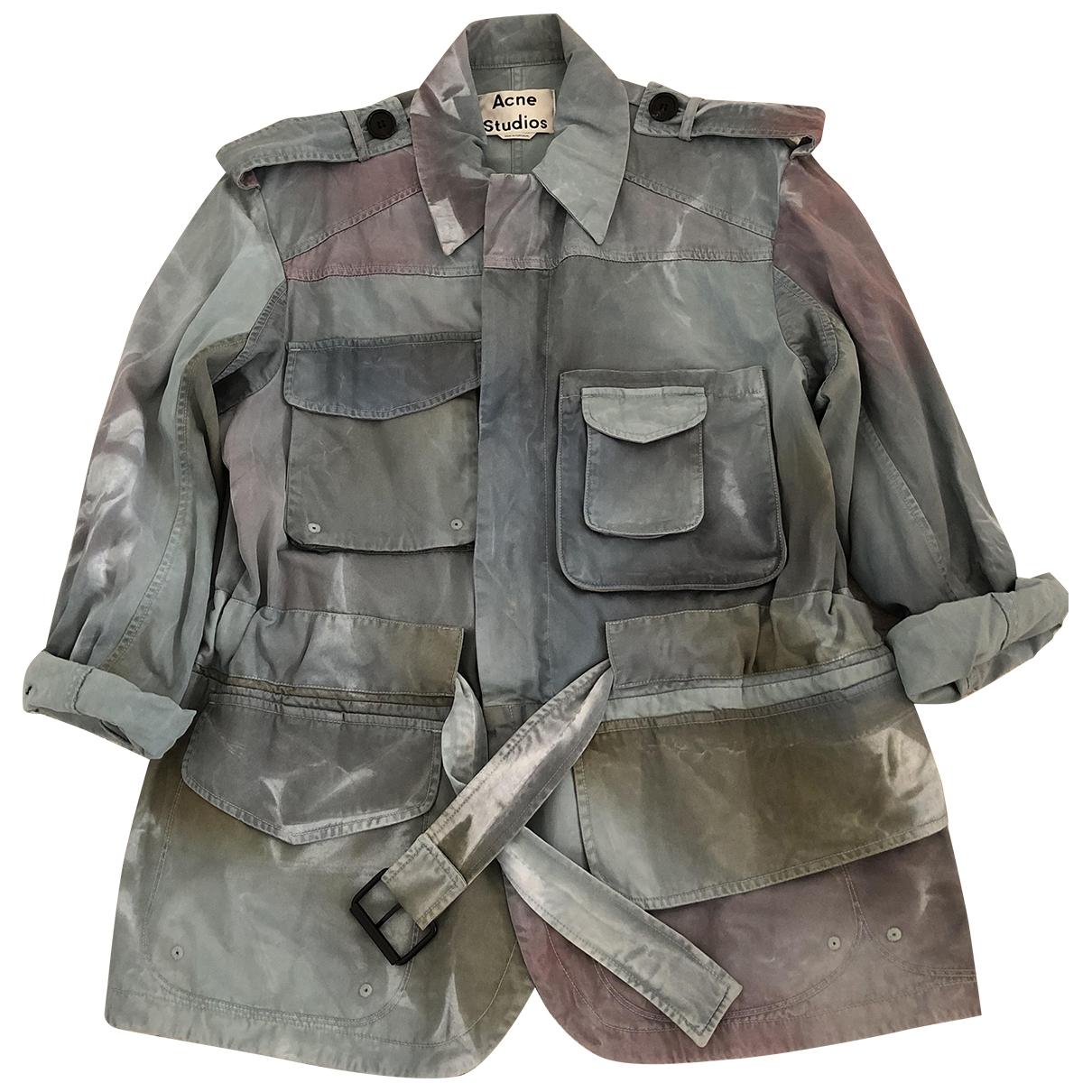 Acne Studios \N Blue Cotton jacket for Women 32 FR