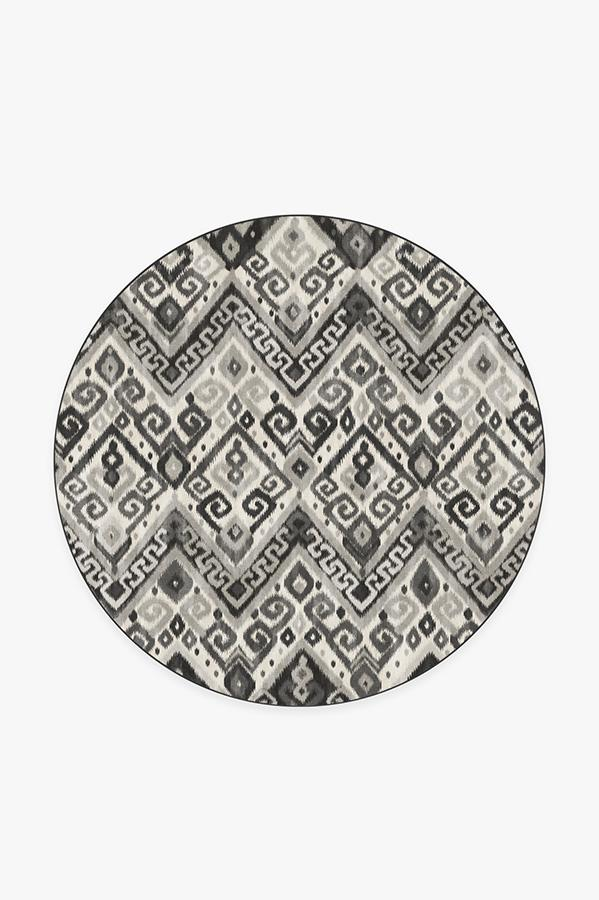 Washable Rug Cover | Orissa Grey Rug | Stain-Resistant | Ruggable | 6' Round