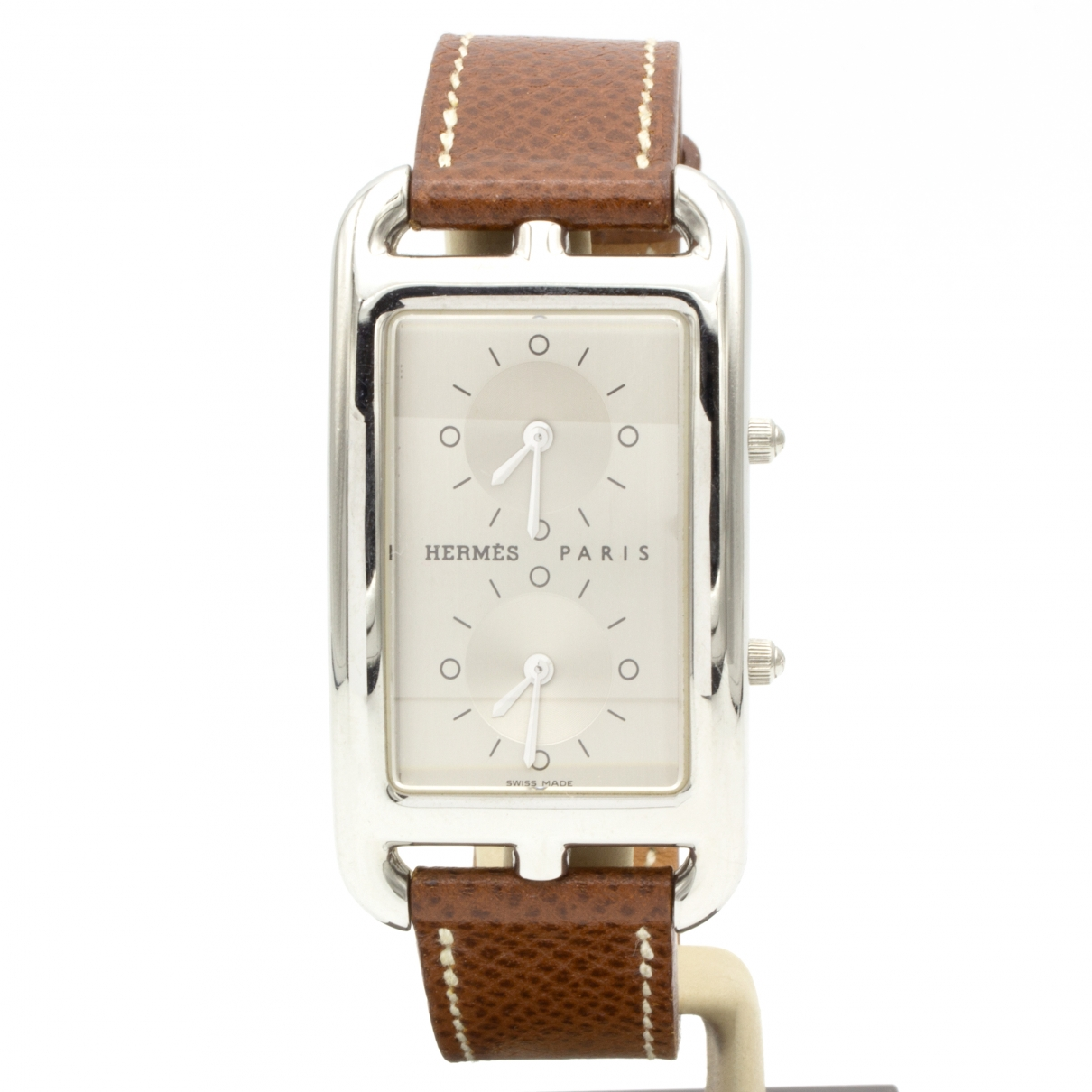 Hermes Cape Cod Dual Time Uhr in  Silber Stahl