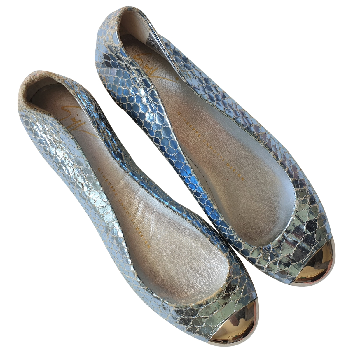 Giuseppe Zanotti \N Blue Leather Ballet flats for Women 35 EU