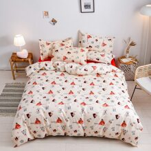 Figure Graphic Bedding Set Without Filler