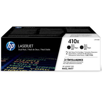 HP 410X CF410XD Original Black Toner Cartridge High Yield, 2/Pack
