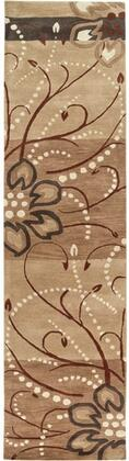 Athena Collection ATH5006-312 Runner 3' x 12' Rug  Hand Tufted with Wool Material in Brown and Neutral
