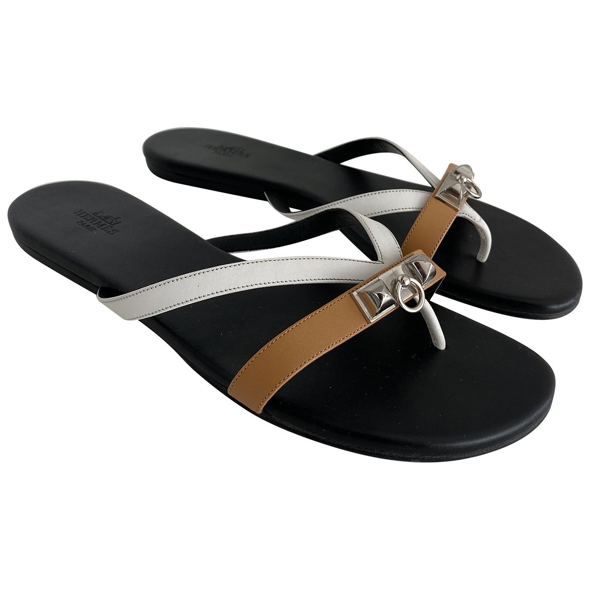 Hermès N Multicolour Leather Sandals for Women 38.5 EU