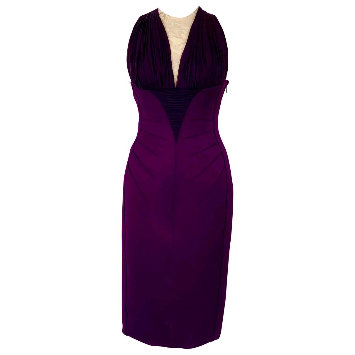 Versace \N Kleid in  Lila Seide