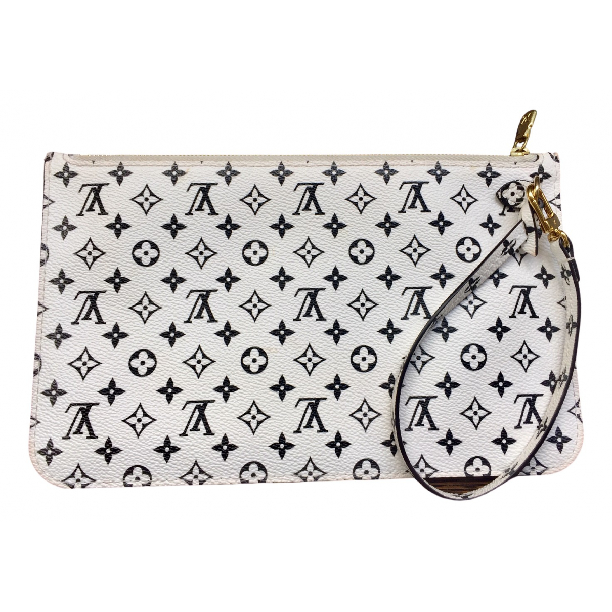 Louis Vuitton - Pochette Neverfull pour femme en toile - blanc