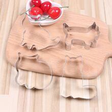 4pcs Kids DIY Cat Biscuit Mold