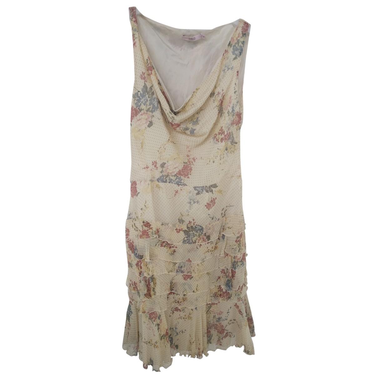 Red Valentino Garavani \N Beige Silk dress for Women 44 IT