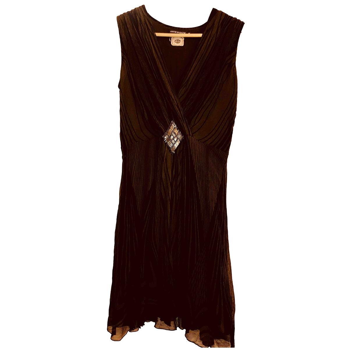 Antik Batik - Robe   pour femme en soie - bordeaux
