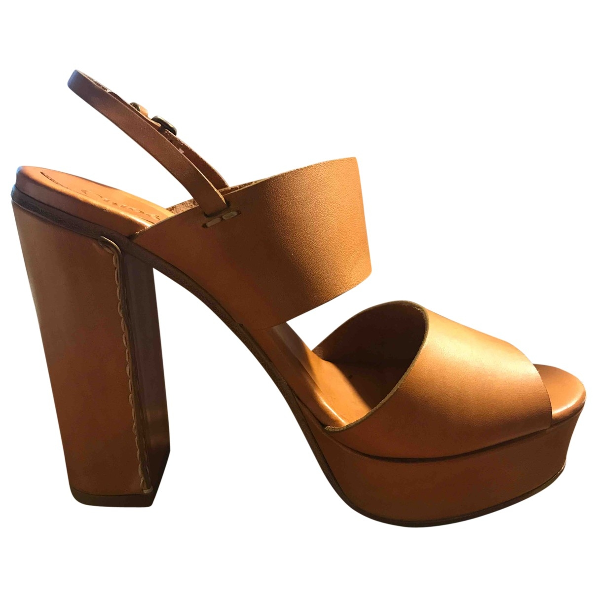 Chloé \N Camel Leather Sandals for Women 39 EU