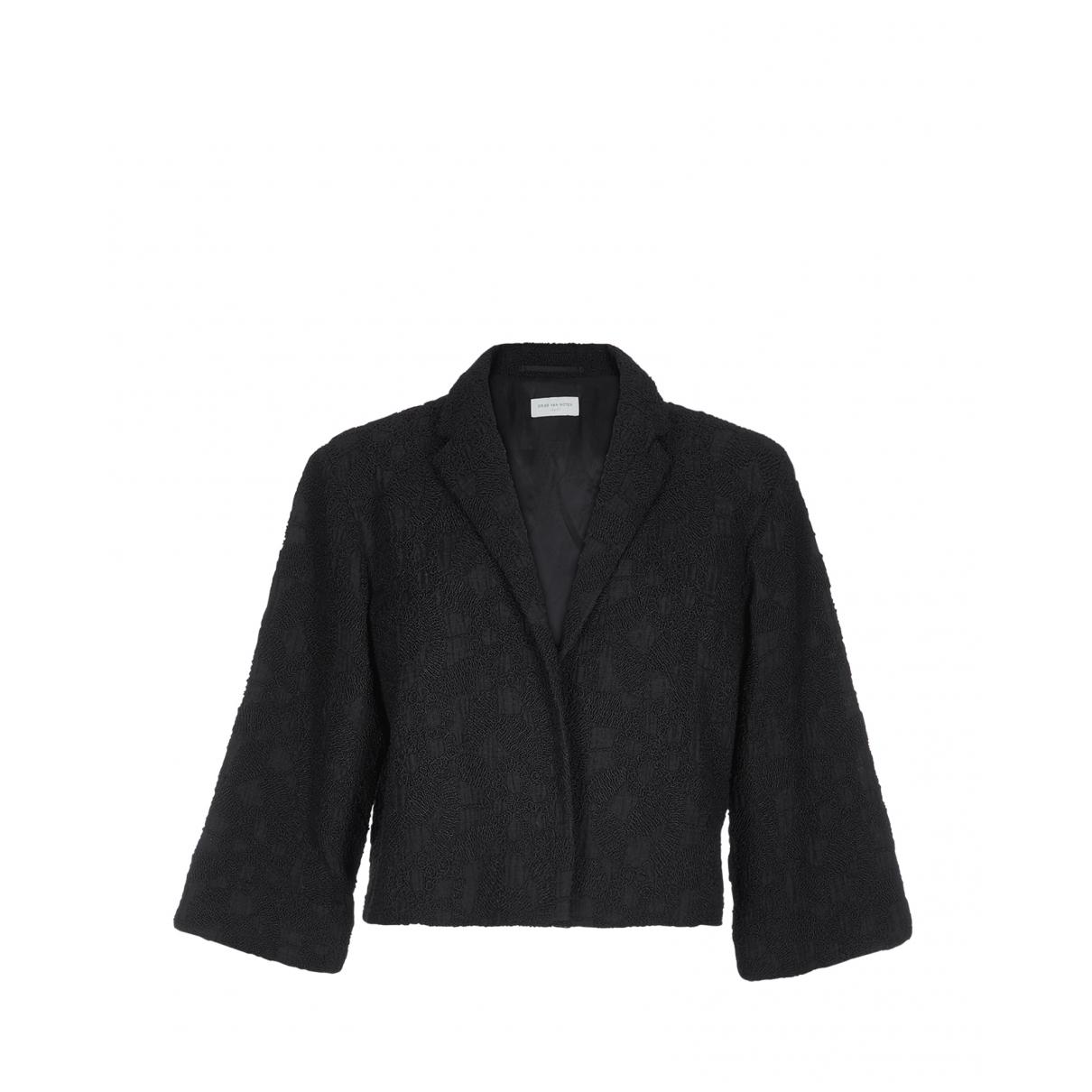 Dries Van Noten - Veste   pour femme en coton - noir