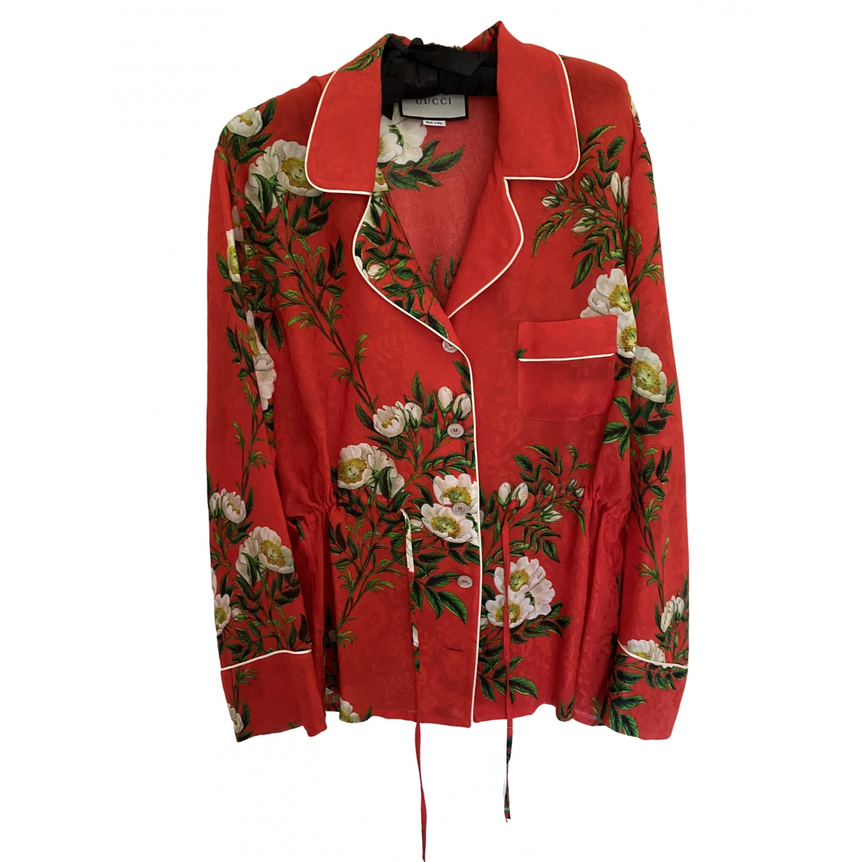 Gucci \N Red Silk  top for Women 44 IT