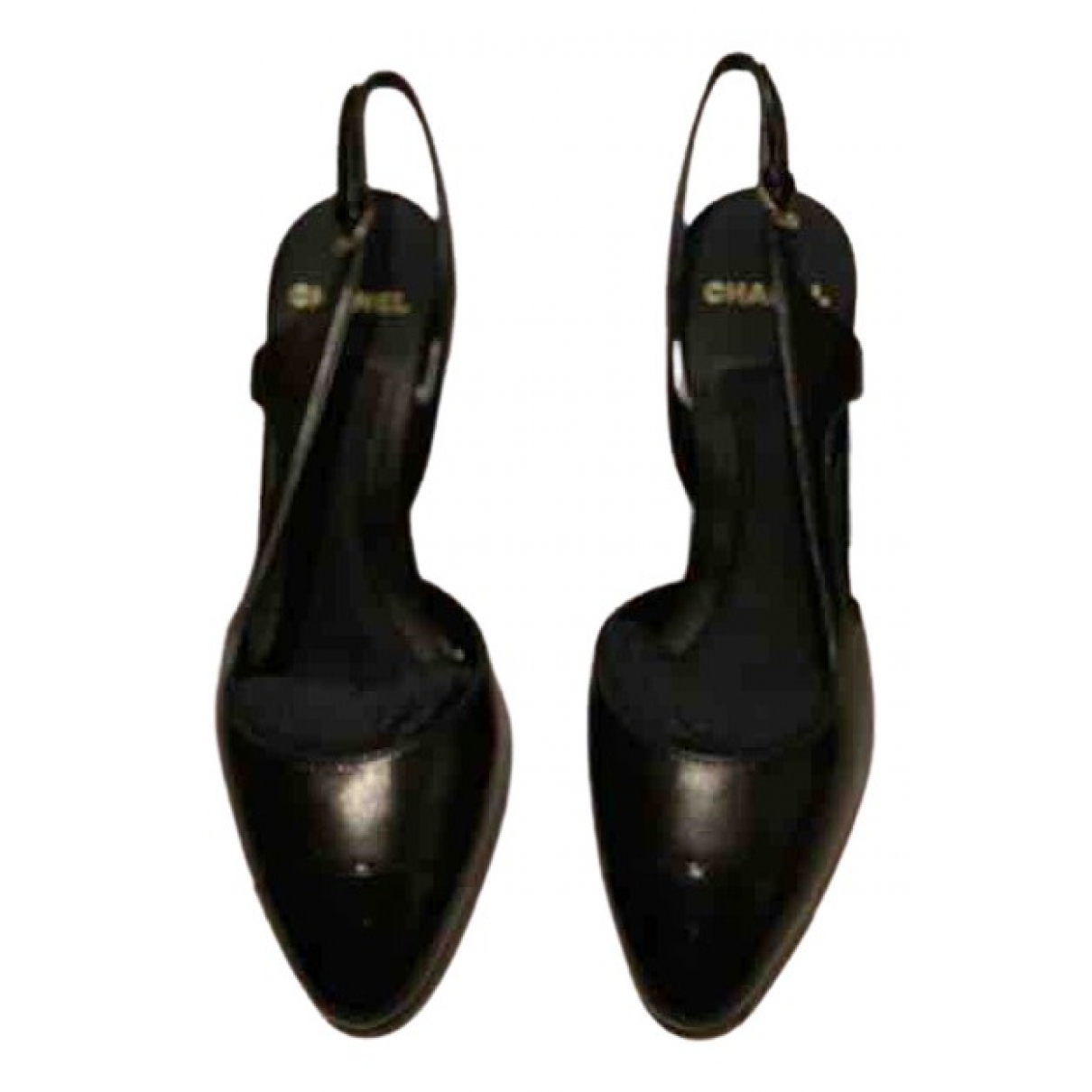 Chanel Slingback Black Leather Ballet flats for Women 36 EU