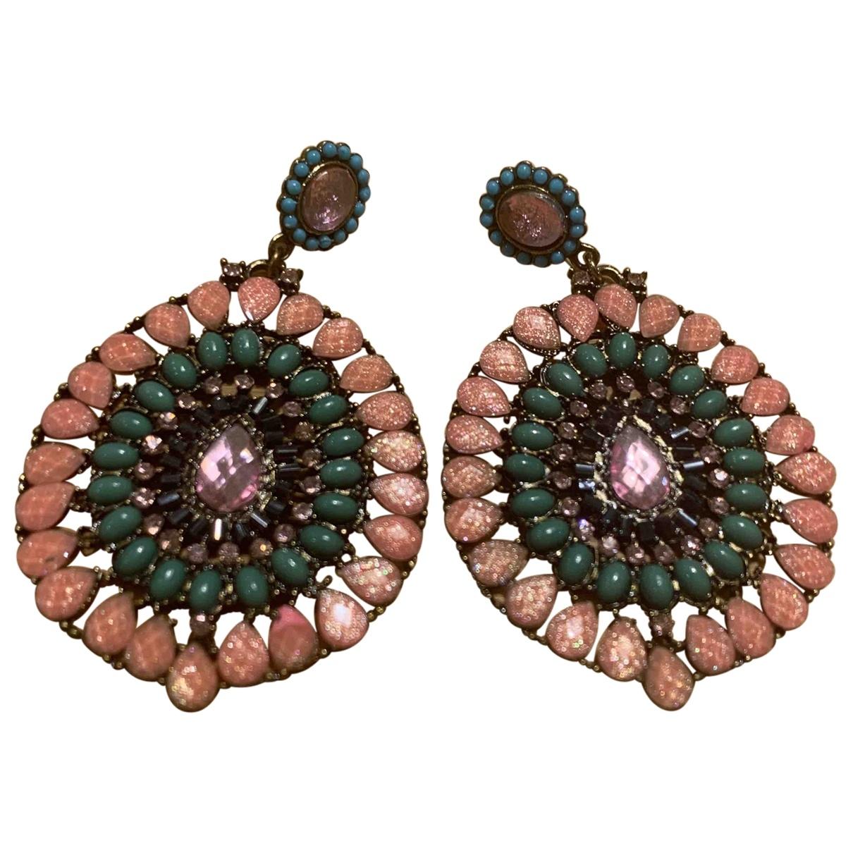 - Boucles doreilles Motifs Ethniques pour femme en acier - multicolore