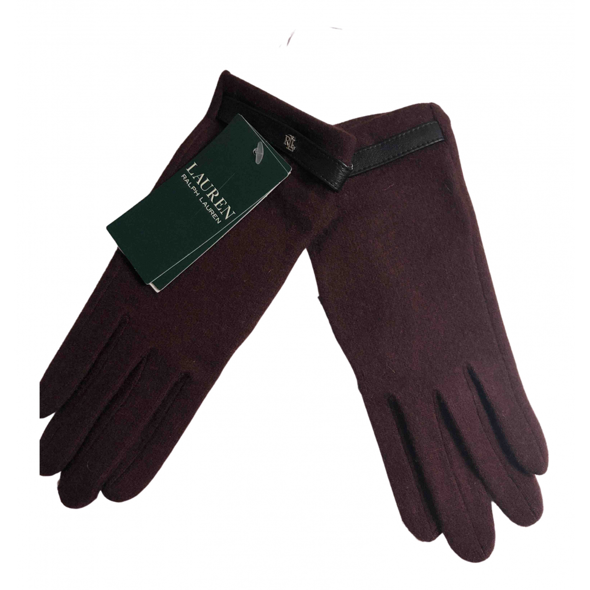Lauren Ralph Lauren \N Burgundy Wool Gloves for Women M International