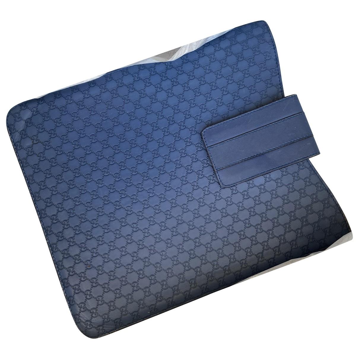 Gucci - Accessoires   pour lifestyle en cuir - bleu