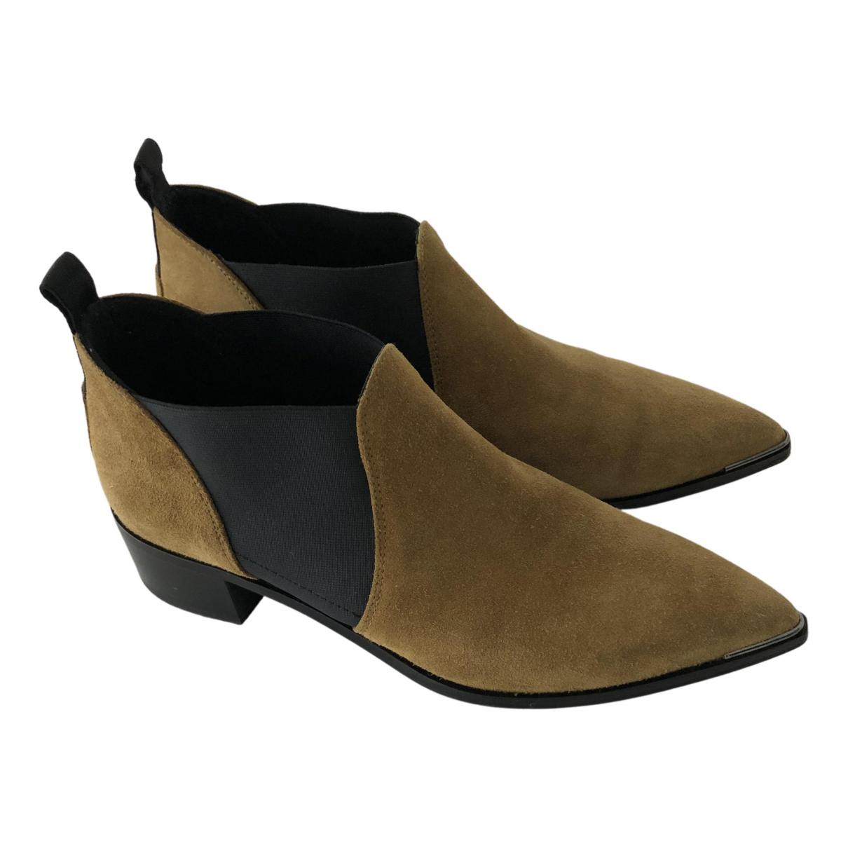 Acne Studios - Boots   pour femme en suede - beige