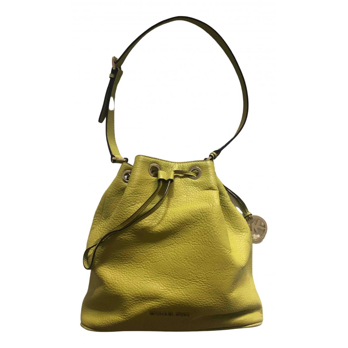 Michael Kors \N Yellow Leather handbag for Women \N