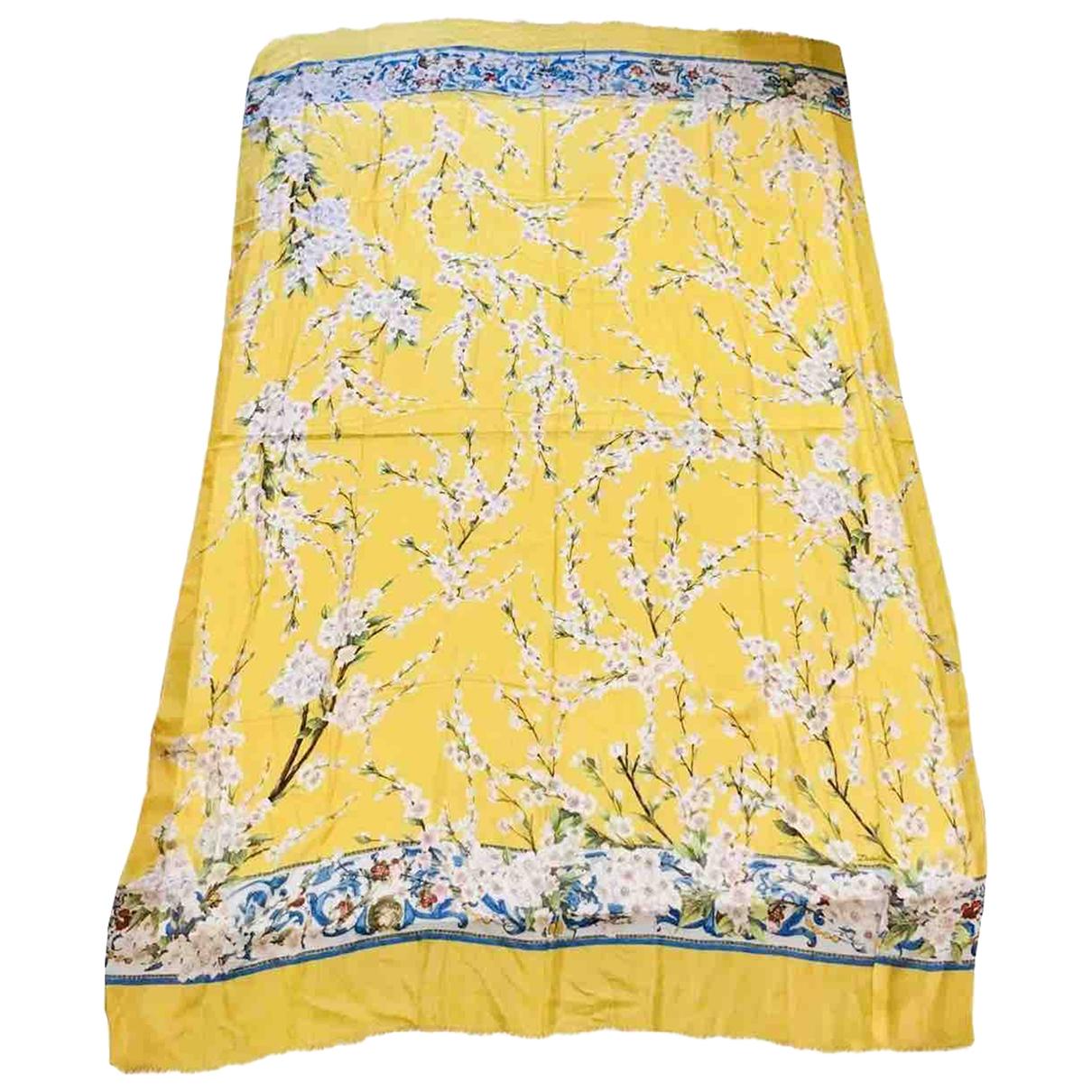 Dolce & Gabbana \N Yellow Cotton scarf for Women \N