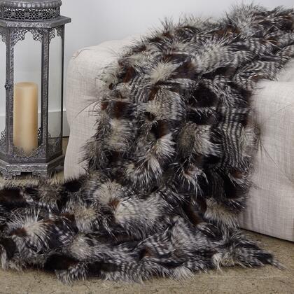 Porcupine Collection PBEZ1783-96x110T 96L x 110W Queen Dark Brown and Beige Faux Fur Luxury
