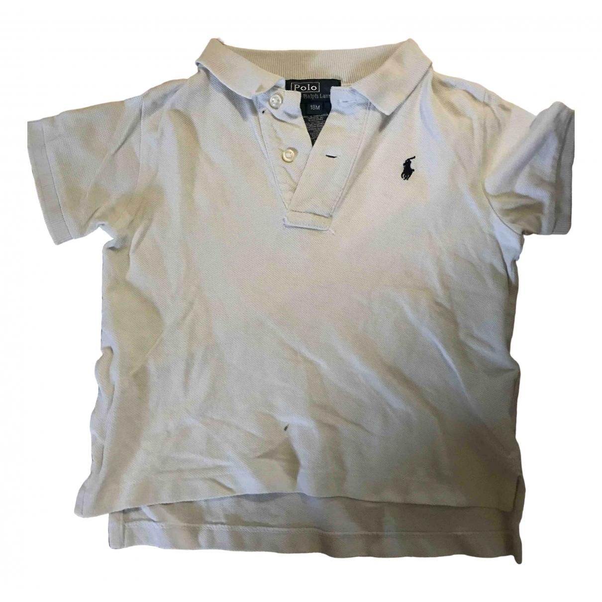 Camisetas en Algodon Blanco Polo Ralph Lauren