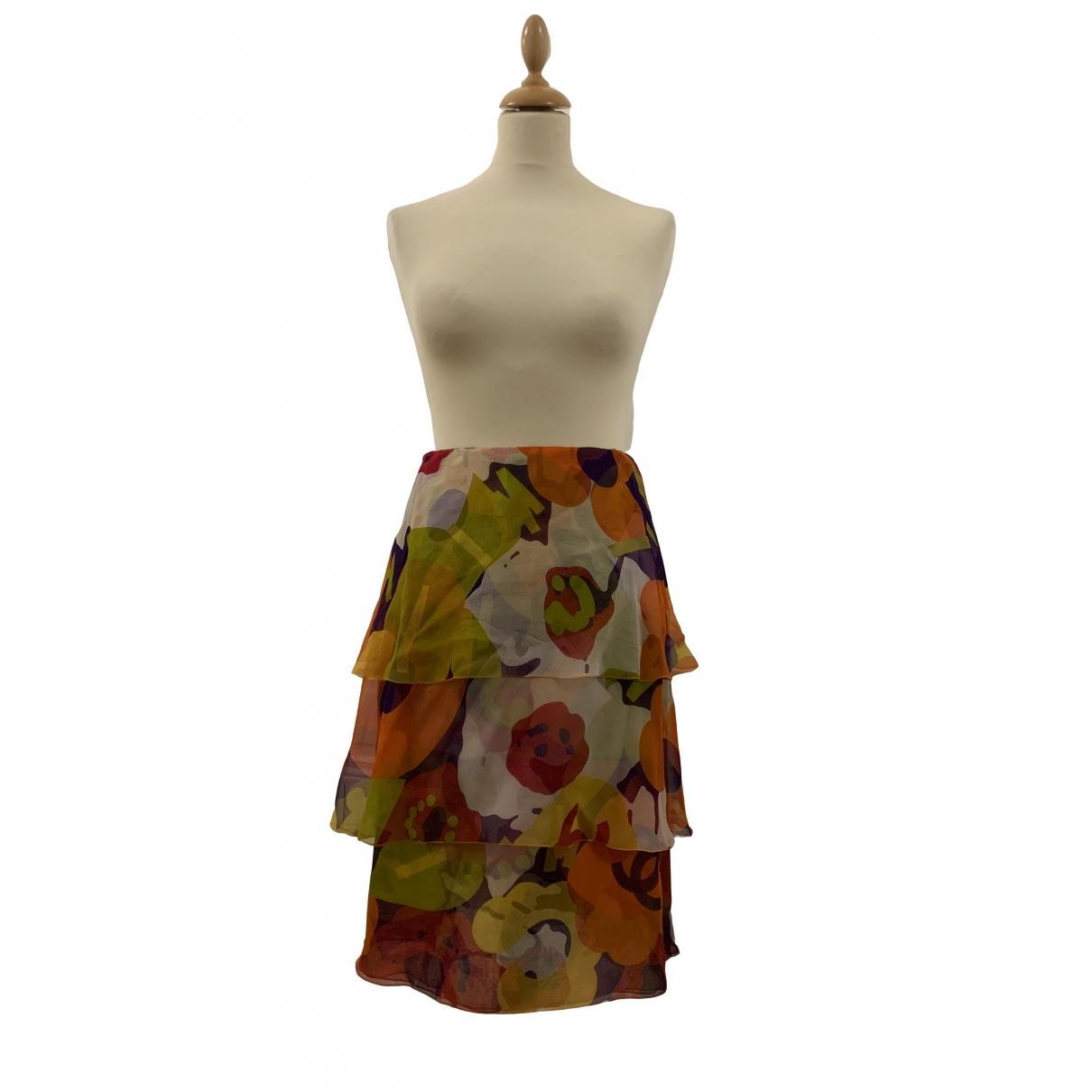 Chanel - Jupe   pour femme en soie - multicolore