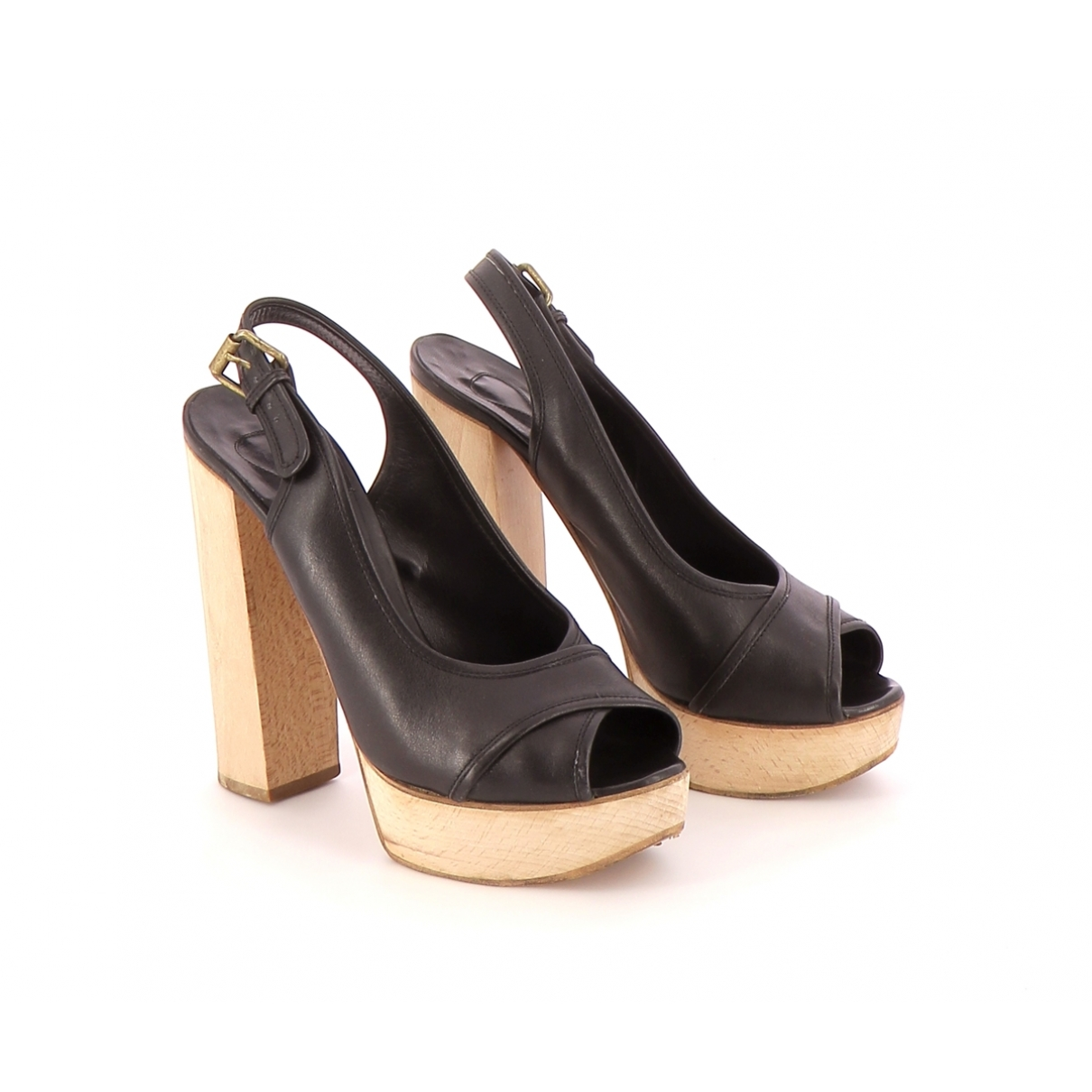 Chloe - Sandales   pour femme en cuir - noir