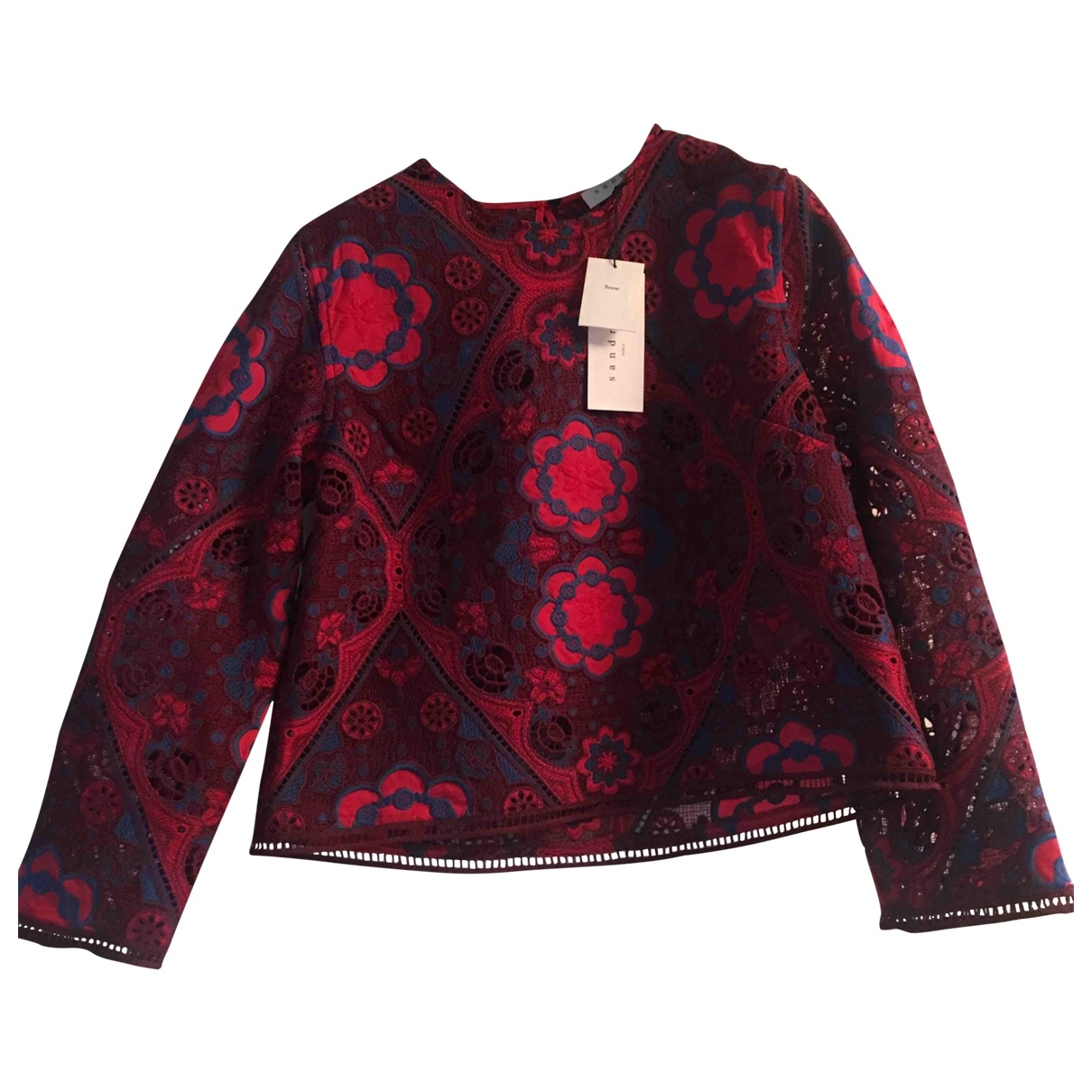 Sandro \N Top in  Bordeauxrot Polyester