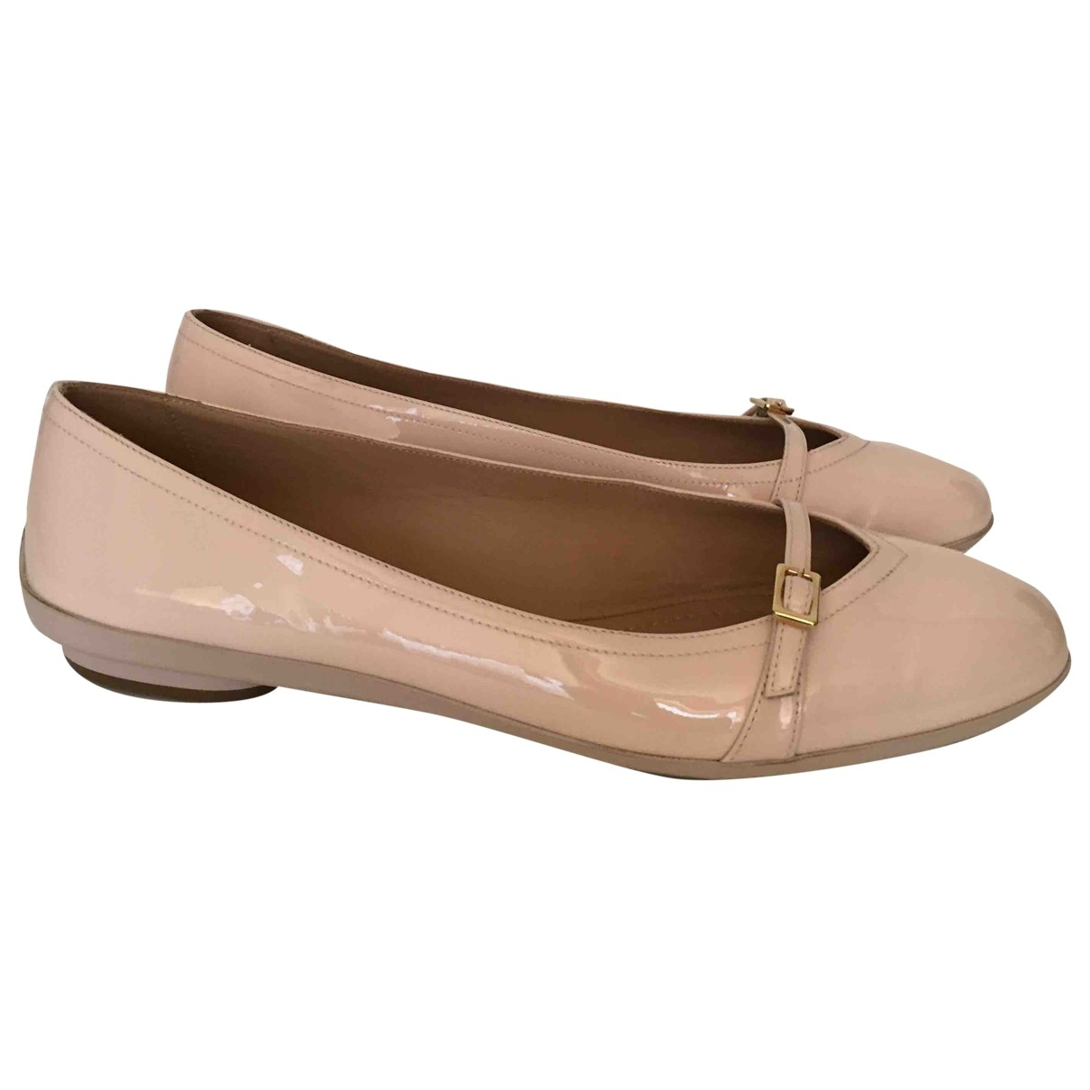 Salvatore Ferragamo \N Ballerinas in  Rosa Lackleder
