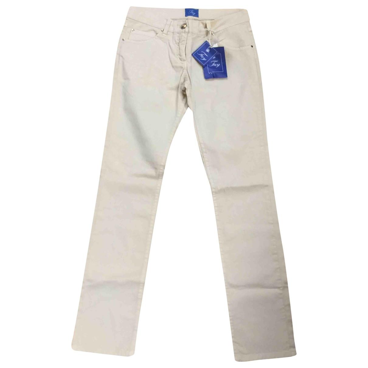 Fay - Pantalon   pour enfant en coton - beige