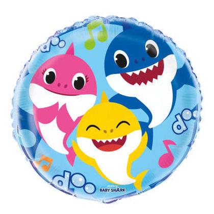 Baby Shark Round Foil Balloon 18