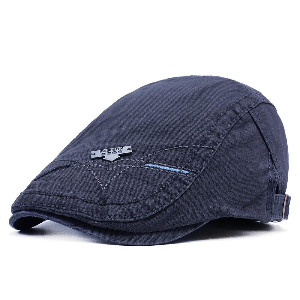 Mens Autumn Winter Cotton Beret Cap Comfortable Casual Outdoor Home Forward Hat