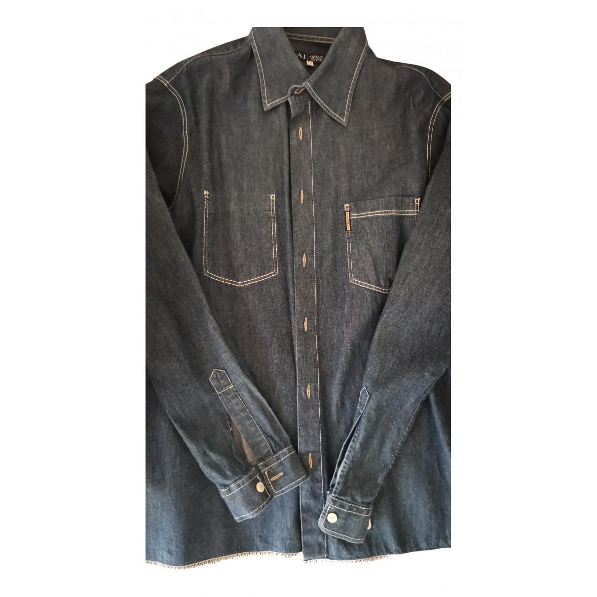 Armani Jeans N Blue Denim - Jeans Shirts for Men 3XL International