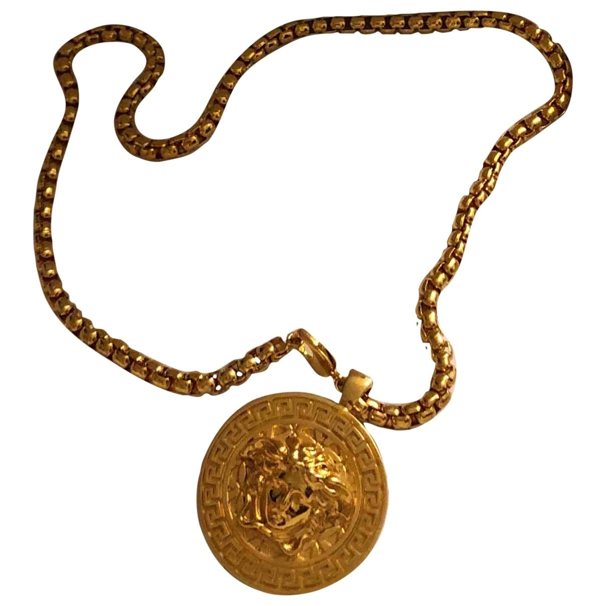 Versace - Sautoir   pour femme en metal - dore
