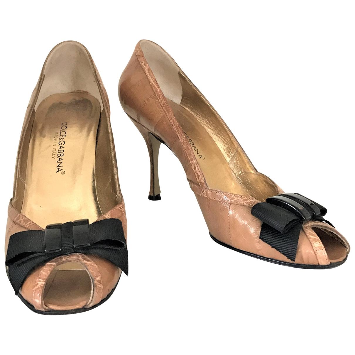 Dolce & Gabbana \N Brown Alligator Heels for Women 37 EU