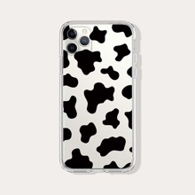 Cow Pattern Clear iPhone Case