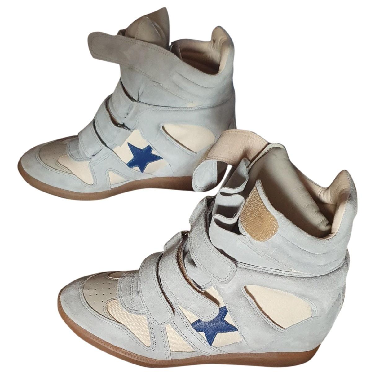 Isabel Marant Bayley Sneakers in  Tuerkis Leder